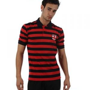 3921ec09b63 Pánské tričko England - Stripe Polo Navy Red - vel. XL